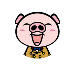 A strange pig sticker #1915542