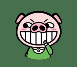 A strange pig sticker #1915544