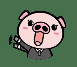 A strange pig sticker #1915545
