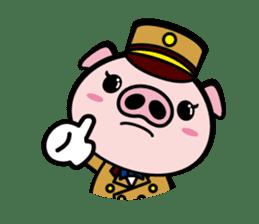 A strange pig sticker #1915546