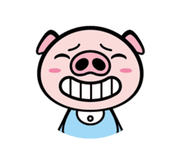 A strange pig sticker #1915547