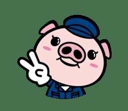 A strange pig sticker #1915552