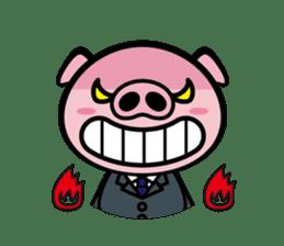A strange pig sticker #1915557