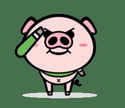 A strange pig sticker #1915570