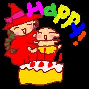 สติ๊กเกอร์ไลน์ mamajo:Mother witch & baby with LOVE
