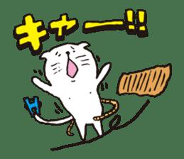 Sad cat Sticker sticker #1920336