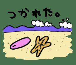 Starfish surfer who loves the sea sticker #1921789