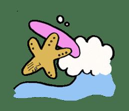 Starfish surfer who loves the sea sticker #1921800
