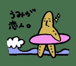 Starfish surfer who loves the sea sticker #1921803