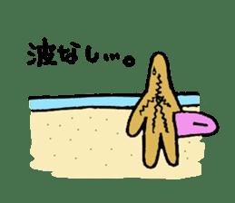 Starfish surfer who loves the sea sticker #1921805