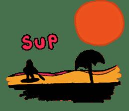 Starfish surfer who loves the sea sticker #1921816