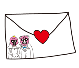 Wrestle Wedding sticker #1922301