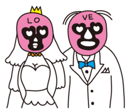 Wrestle Wedding sticker #1922306