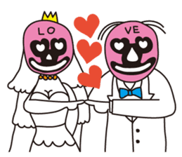 Wrestle Wedding sticker #1922310