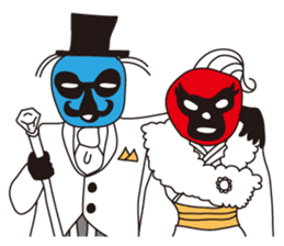 Wrestle Wedding sticker #1922315