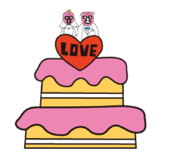 Wrestle Wedding sticker #1922335