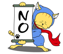 Nekomaru ninja cat sticker #1923072