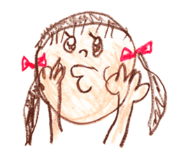 Picture of little girl sticker #1927577