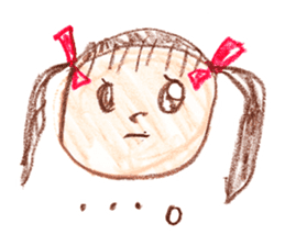 Picture of little girl sticker #1927578