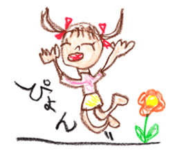 Picture of little girl sticker #1927580