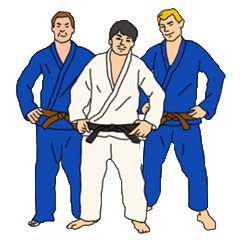 Stickers for Jiu-jitsu guys.