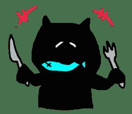 A cute Black Cat sticker #1933539