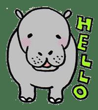 hippopotamus Sticker sticker #1938317