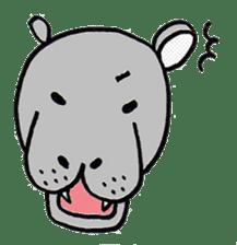 hippopotamus Sticker sticker #1938320