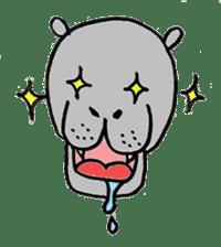 hippopotamus Sticker sticker #1938321