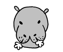 hippopotamus Sticker sticker #1938324