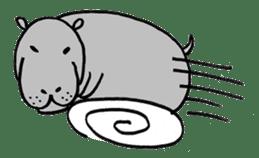 hippopotamus Sticker sticker #1938328