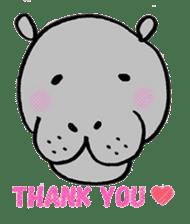 hippopotamus Sticker sticker #1938329