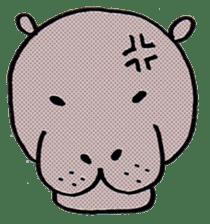 hippopotamus Sticker sticker #1938330