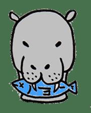hippopotamus Sticker sticker #1938332