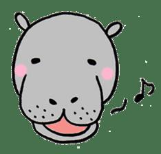 hippopotamus Sticker sticker #1938333