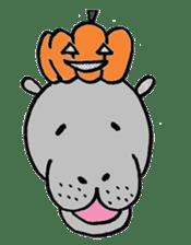 hippopotamus Sticker sticker #1938334