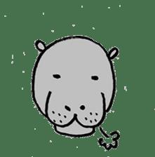hippopotamus Sticker sticker #1938335