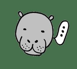 hippopotamus Sticker sticker #1938336