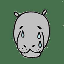 hippopotamus Sticker sticker #1938337