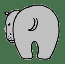 hippopotamus Sticker sticker #1938338