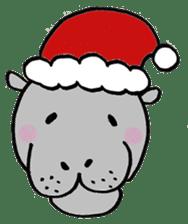 hippopotamus Sticker sticker #1938340