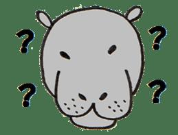 hippopotamus Sticker sticker #1938341