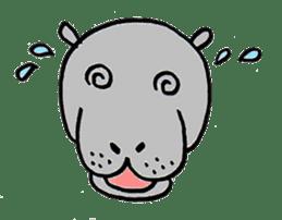 hippopotamus Sticker sticker #1938342