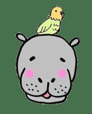 hippopotamus Sticker sticker #1938344