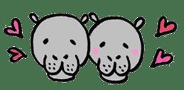 hippopotamus Sticker sticker #1938345