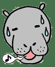 hippopotamus Sticker sticker #1938346
