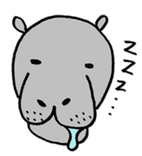 hippopotamus Sticker sticker #1938349