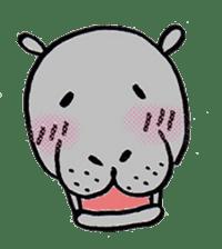 hippopotamus Sticker sticker #1938350