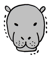 hippopotamus Sticker sticker #1938351