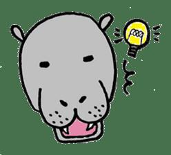 hippopotamus Sticker sticker #1938352